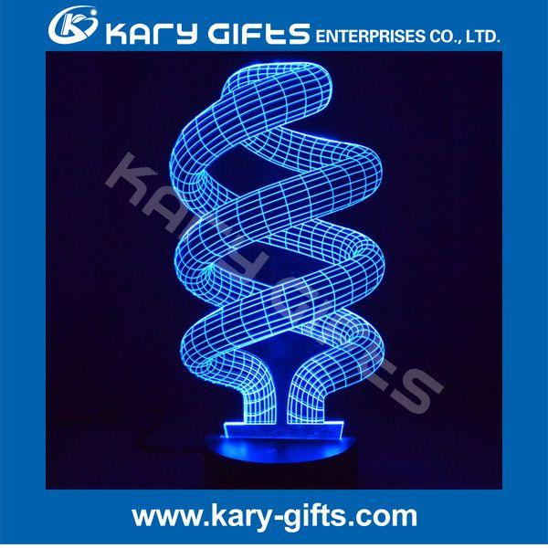 Rgb Color Change Led Light Table Lamp Decoration 3d Lamp