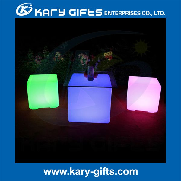 LED Cube Seat Lighting Led Plastic Color Changing Chair Led Cube Stool