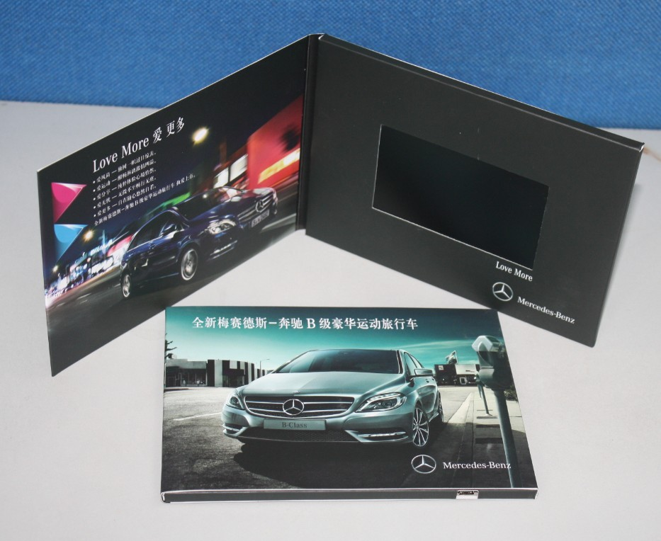 Promotion Advertising Lcd Video Display Greeting Card With