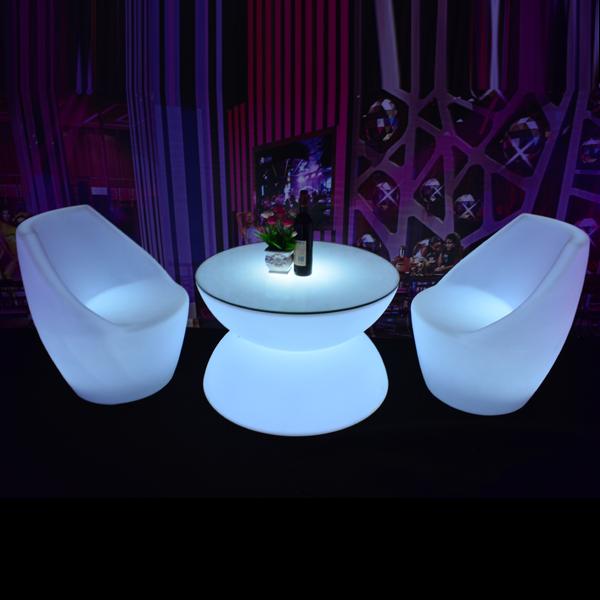Cheap Garden Furniture Illuminated Plastic Garden Table Chairs
