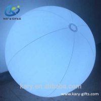 Flap Sensor Waterproof Beach Ball Inflatable LED PVC Ball