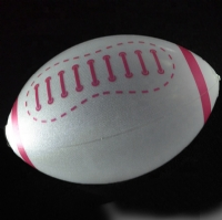 Customized Glowing PVC Inflatable Rugby Ball LED Beach Ball
