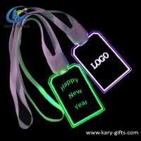 Promotional Christmas Novelty Flashing Pendant Necklace Led Light Necklace