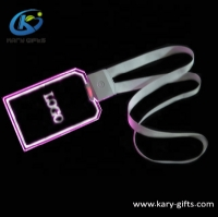 Customized Event Multicolor Led Lights Lanyard Led Light Flashing Necklace