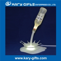 3D Printing With LED Beer Bottle Pouring Lamp/ Wine Pouring Lamp