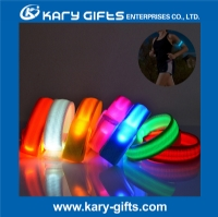 Best LED Glowing Slap Band for Arm Wrist With battery Sweat Resistant Easy to Clean highly Reflective Safety for Hiking