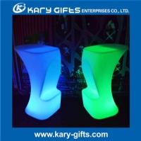 China Bar Stool High Chair Pub Bar Stool LED Plastic Bar Stool KC-5090