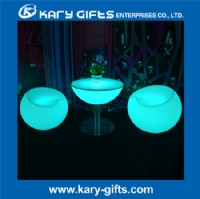 Colorful illuminated LED furniture modern bar stools