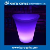 Modern party decor light up ice bucket club illuminated wine ice bucket