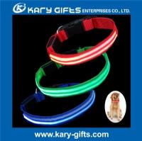 Rechargeable Flashing Light Up Fiber Led Dog Collar