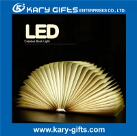 USB Rechargeable Book Shaped Light Decoration Folding Book Lamps