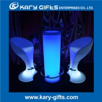 Stainless steel rgb color light up bar table with glass aloadofball Gallery