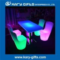 Illuminated LED Dining Table 2-4 Seats Color Customize KFT-12076