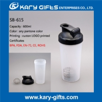 Wholesale plastic BPA free water cup protein shaker bottle SB-615