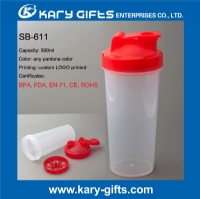 Personalized shaker bottles plastic drinking bottle SB-611