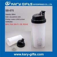 600ml protein shaker plastic water bottle for sports SB-670