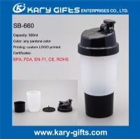 Plastic shaker bottle custom logo shaker bottle SB-660